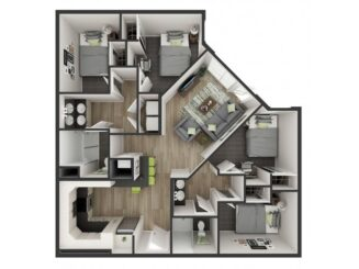 D1 Floor plan layout