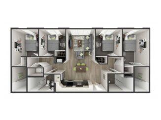 D2 Floor plan layout